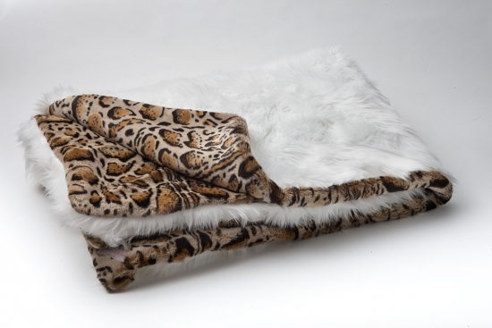 White Fox/Bobcat Throw