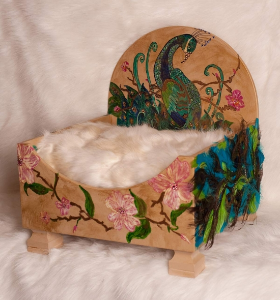 Peacock  Pet Bed