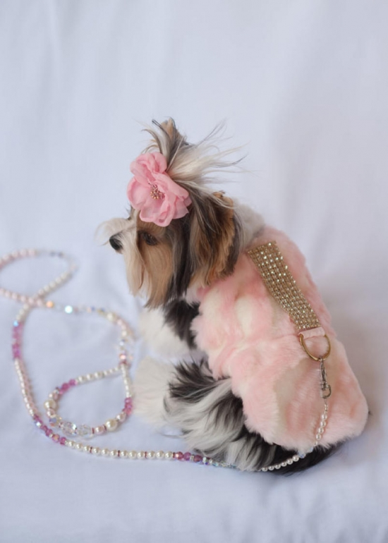 Pink Ivory Zebra Faux Fur