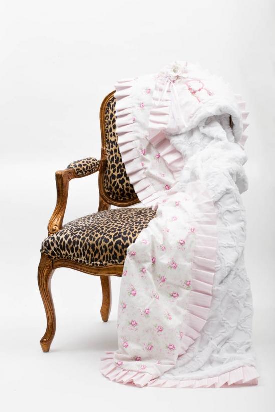 Shabby Chic Ruffled Blanket
