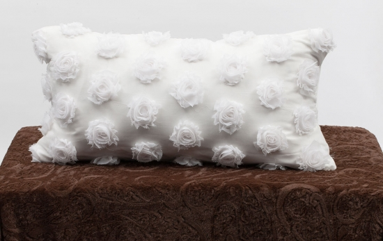 Chiffon Roses Pillow