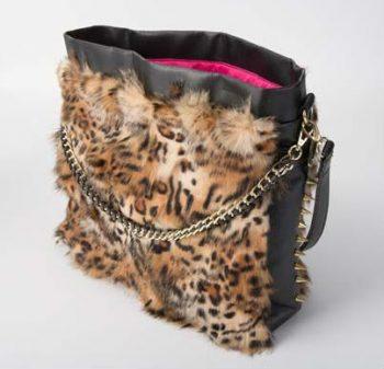 Leopard Fur Tote